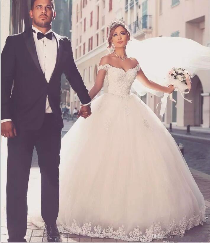 discount 2018 vestidos de novia wedding dress ball gown cap elegant