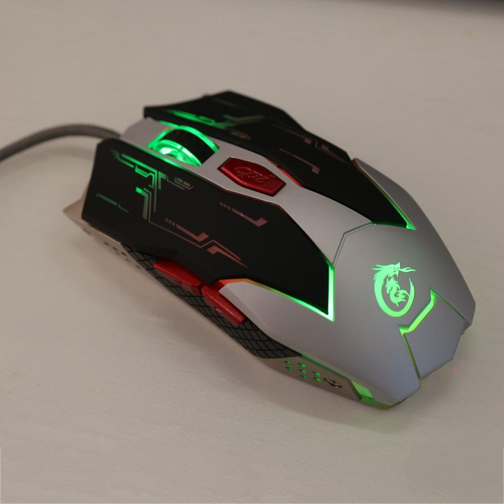 HXSJ X100 Professional 6 Buttons 1 5M Cable Wired USB Optical Gaming Mouse  2500 DPI 6 Buttons Game Mouse For Laptops Desktops