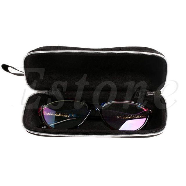 Fashion occhiali da sole di Protable rettangolo zipper Eyewear Protector box Purple Pkd7bEk