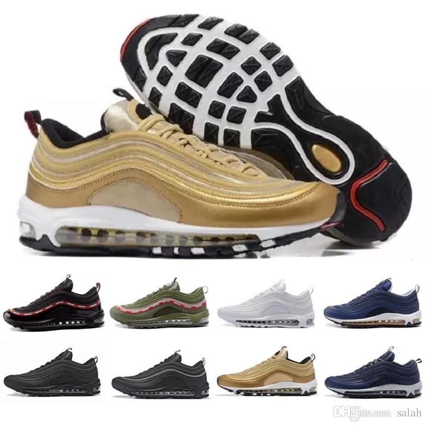 Acheter Nike Air Max 97 Airmax 90 Hommes Bas Og Air Coussin Respirant Massage À L'extérieur Plat Sneakers Femmes Sport Casual Chaussures 36 45 De $168.41 Du ...
