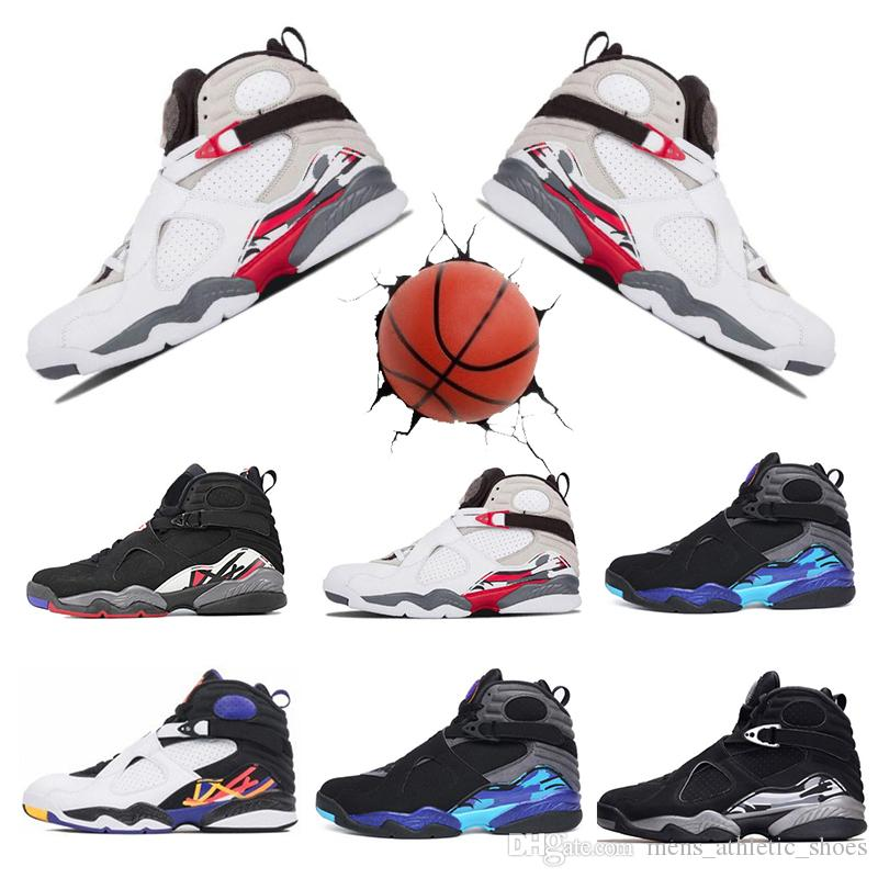 1a9708edec0 Outdoor Mens Basketball Shoes 8s VII Countdown Pack Aqua Men Designer Shoes  Playoff Three Peat Sneakers 8 Chrome Trainers Man Shoes US7-13 Basketball  Shoes ...