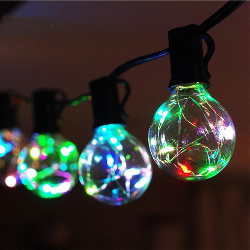 g40 christmas lights globe string light 25led bulb outdoor. Black Bedroom Furniture Sets. Home Design Ideas