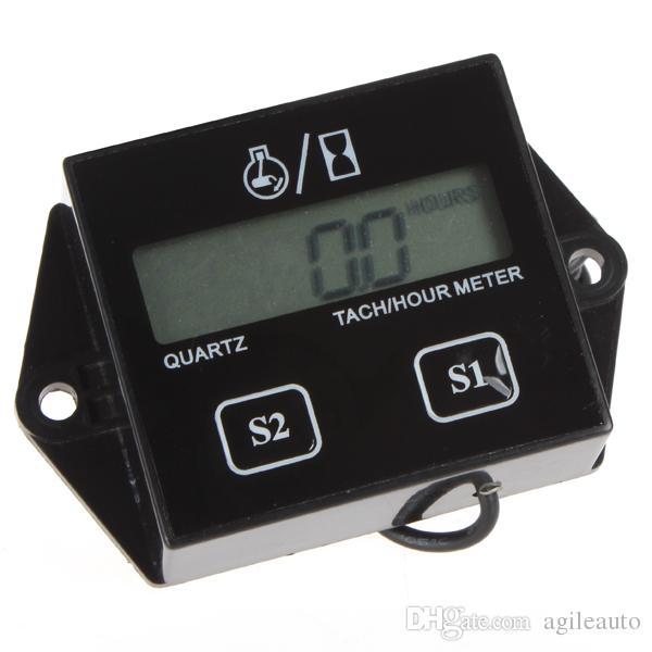Universel Bougies D'allumage Moteur LCD Affichage Compteur Horaire Numérique Jauge De Tachymètre Pour Moto Moto Bateau OUT_136