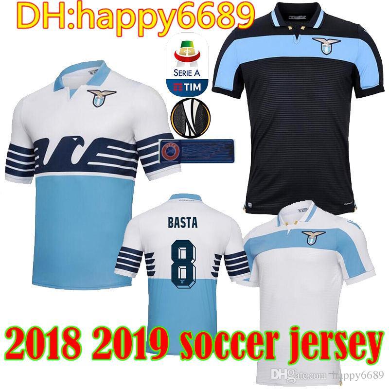 c37b64eb42d Best Quality 18 19 LAZIO Soccer Jerseys Home Away BERISHA 93 F ...
