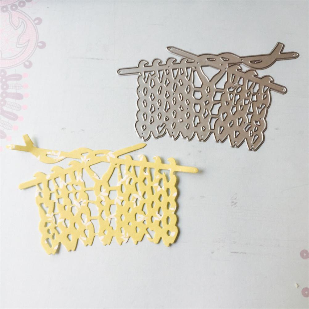 1 unid de lana de coser troqueles de corte de metal DIY tarjeta de papel Álbum de fotos que hace Scrapbooking en relieve metal artesanal muere suministros