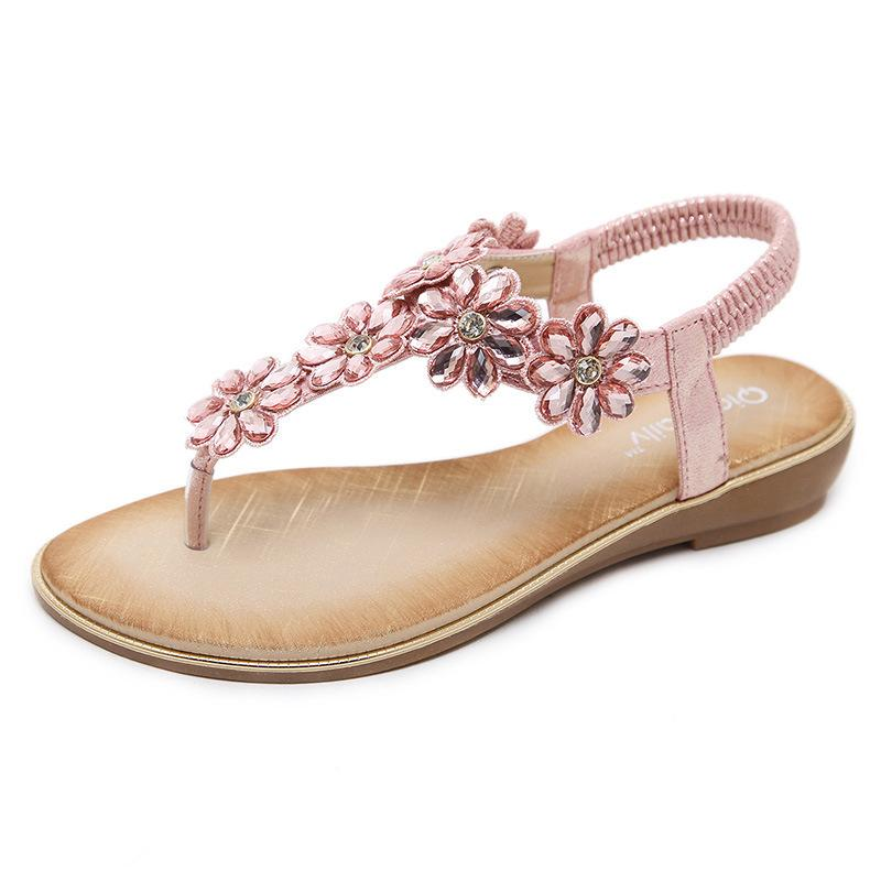 13a96372556 2018 High Quality Fashion Women Designer Sandals With Rhinestone Latest  Fashion Rhinestone Flat Shoes For Lady Blue Shoes Cheap Sandals From  Cherishu