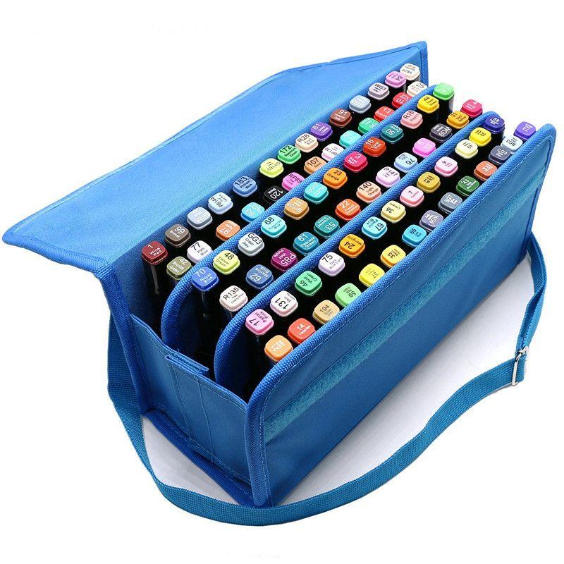 058ce6268e06 80 slots oxford school art student marker pen storage bag sketch tools  organizer case large capacity handbag container