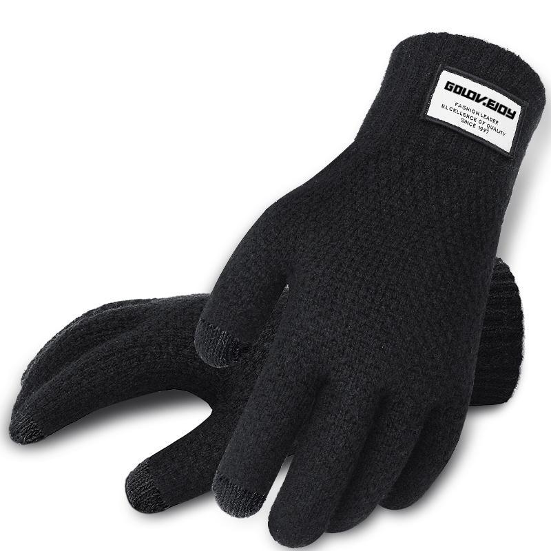 aiuxuan Guanti lavorati a maglia tattili caldi invernali unisex per uomo donna 2 PACK