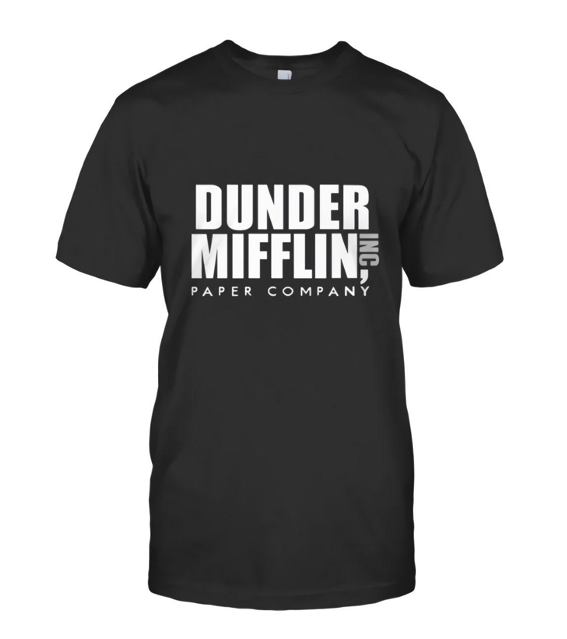 b74e0d091357c New Dunder Mifflin The Office Sweater Comedy Funny Men s Black T ...
