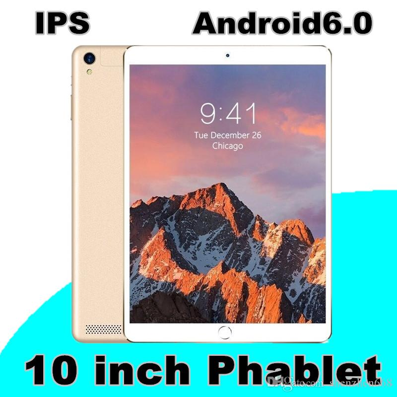 100x 10.1-inch tablet PC IPS Android 6.0 3G MTK6592 quad-core 1MB+16GB 128G memory can be inserted.
