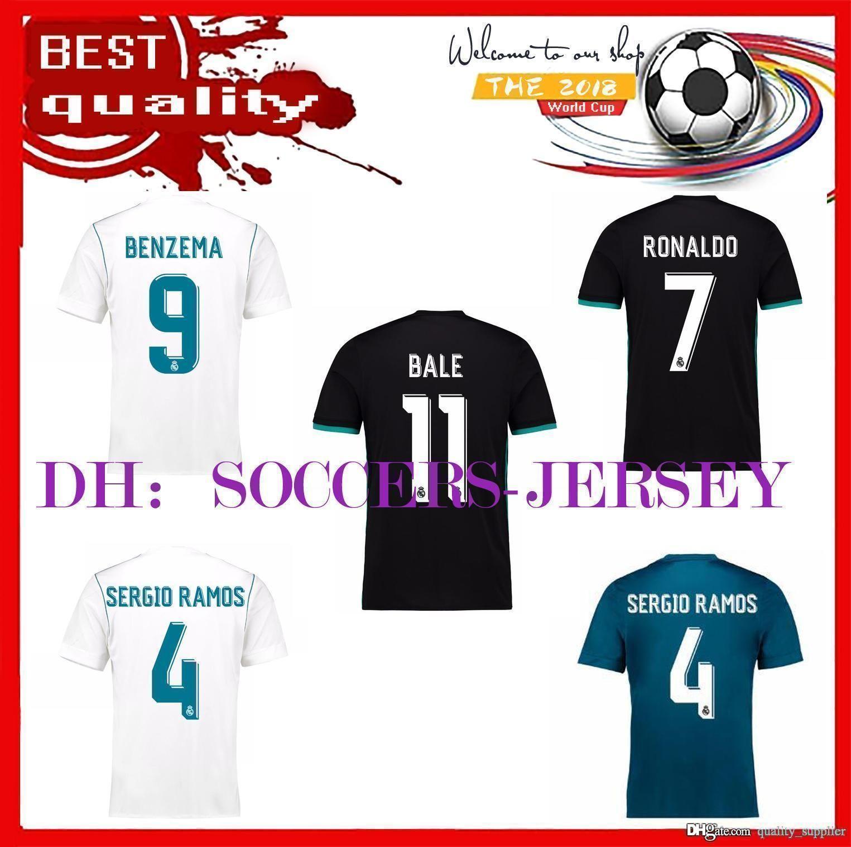 best service f06c3 d3255 17 Real Madrid home away jersey 18 Ronaldo football jersey MODRIC LUCAS V  MORATA BALE KROOS ISCO BENZEMA football shirts Camisa new jersey