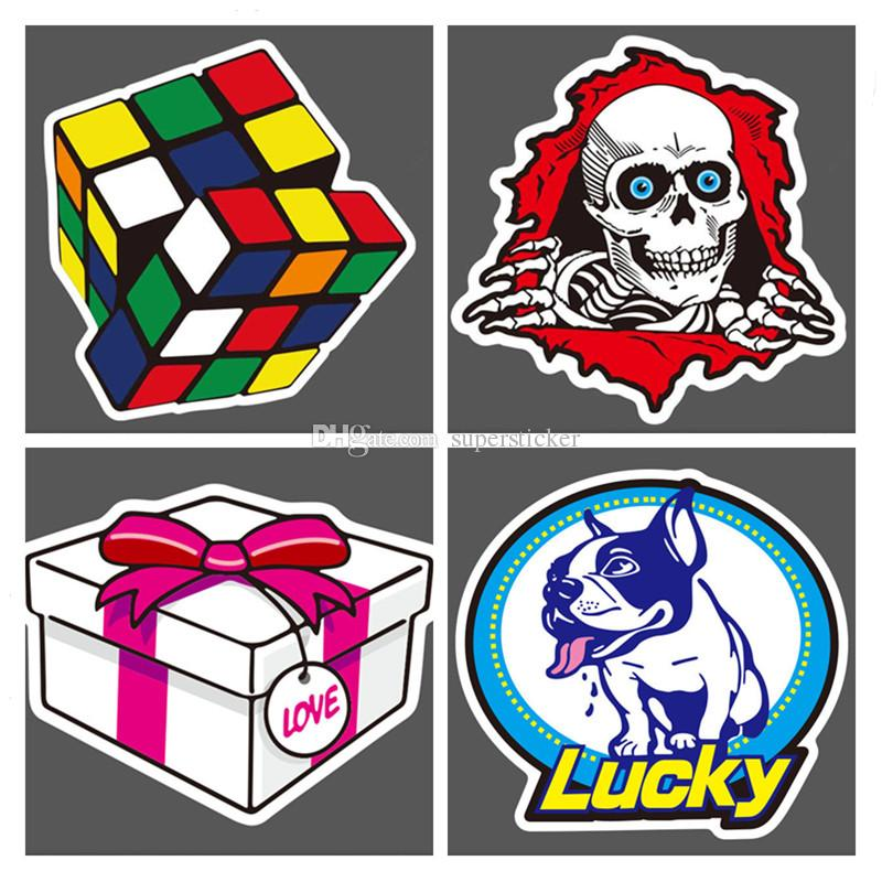 Random DIY stickers posters wall stickers for kids rooms home decor sticker on laptop skateboard luggage wall decals car sticker