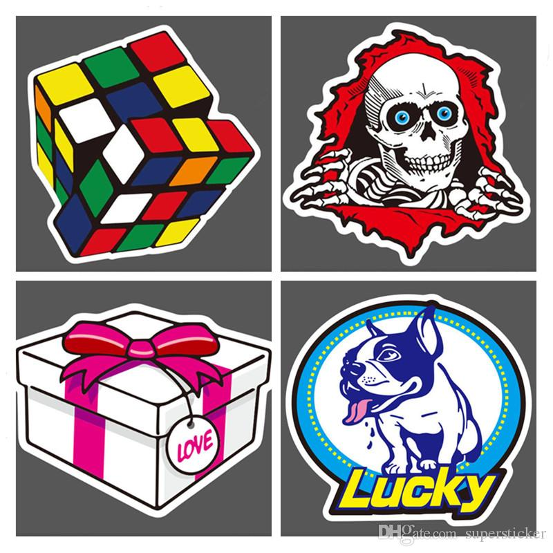 Fasion Cool Pack of Stickers Skateboard Snowboard Vintage Vinyl Sticker Graffiti Laptop Luggage Car Bike Bicycle Guitar Travel Case