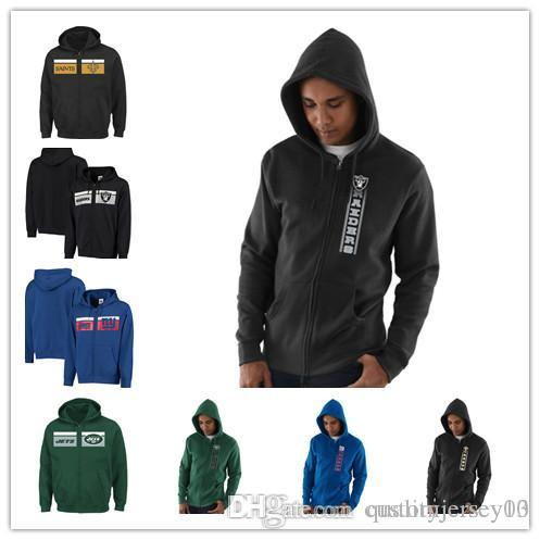 save off 59b15 a961b Men's New Orleans Saints Giants York Jets Oakland Raiders Hook and Ladder  Full-Zip Hoodie Outdoor Jacket