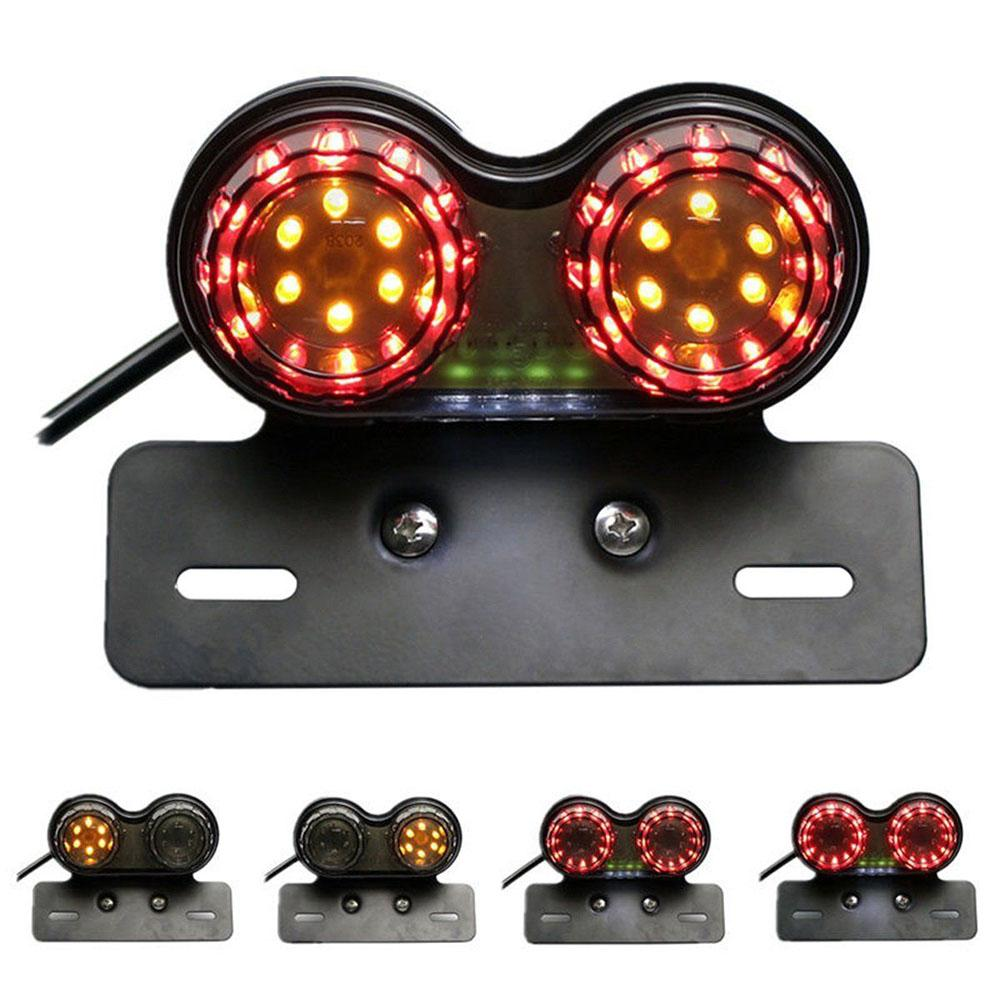 Targa motociclistica integrata fanale posteriore LED doppia targa freno targa ATV ktm ecc