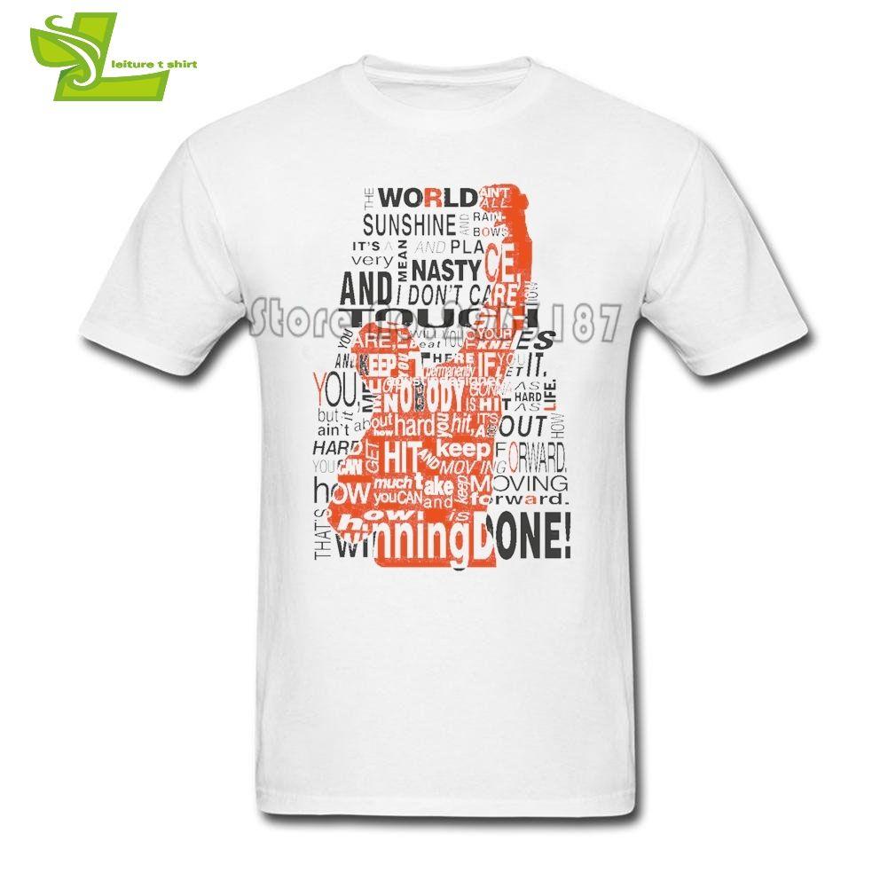 bdd0bb8809fe61 Keep Moving Forward Rocky Balboa T Shirt Male Latest Simple Tshirts Custom  Made T-Shirt Men's Summer Novelty Teenboys Tees Rocky Balboa T Shirts Men  Summer ...