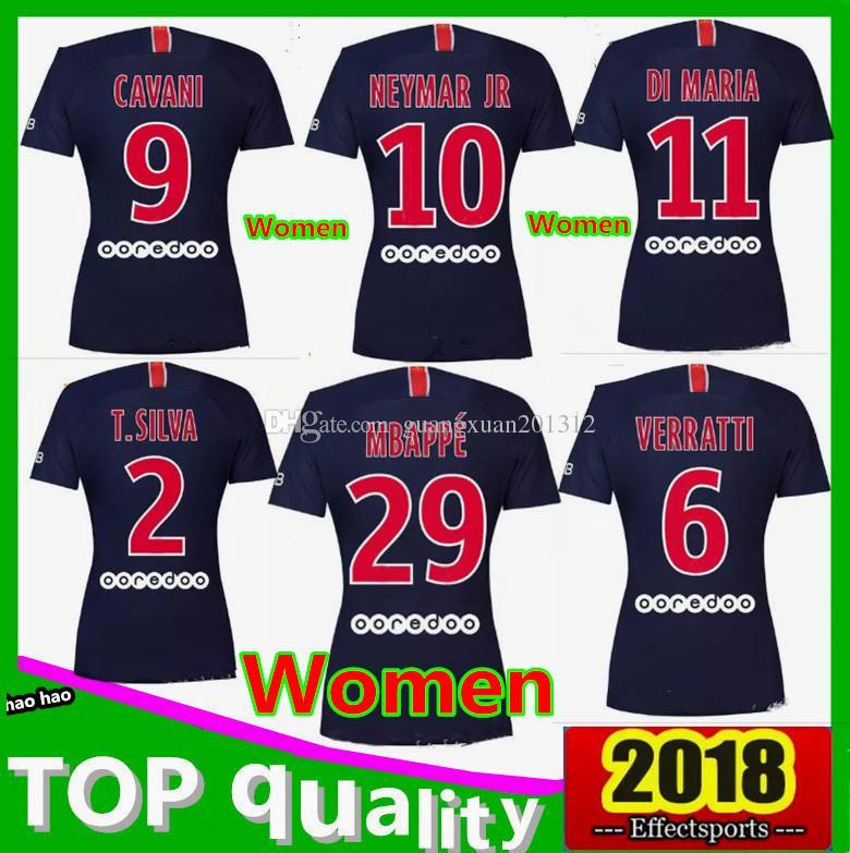 Compre Camisa 2018 Neymar Jr Das Mulheres 18 19 Cavani Dani Alves Di Maria  Camisas De Futebol Psg Mbappe Camisa De Futebol Survetement Maillot De Pé  De ... e80f6cf916317
