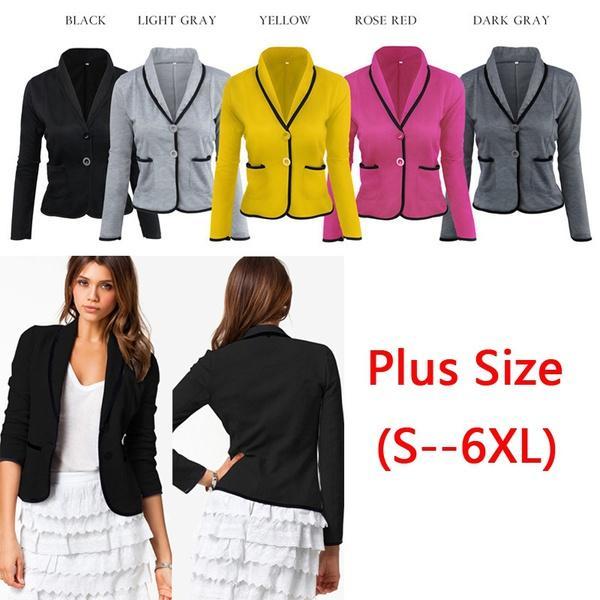 ca892aea70 Plus Size S-6XL Short Coat Korean Women Slim Small Suit Temperament A For  Grain Of Button Tuxedo Suit Small