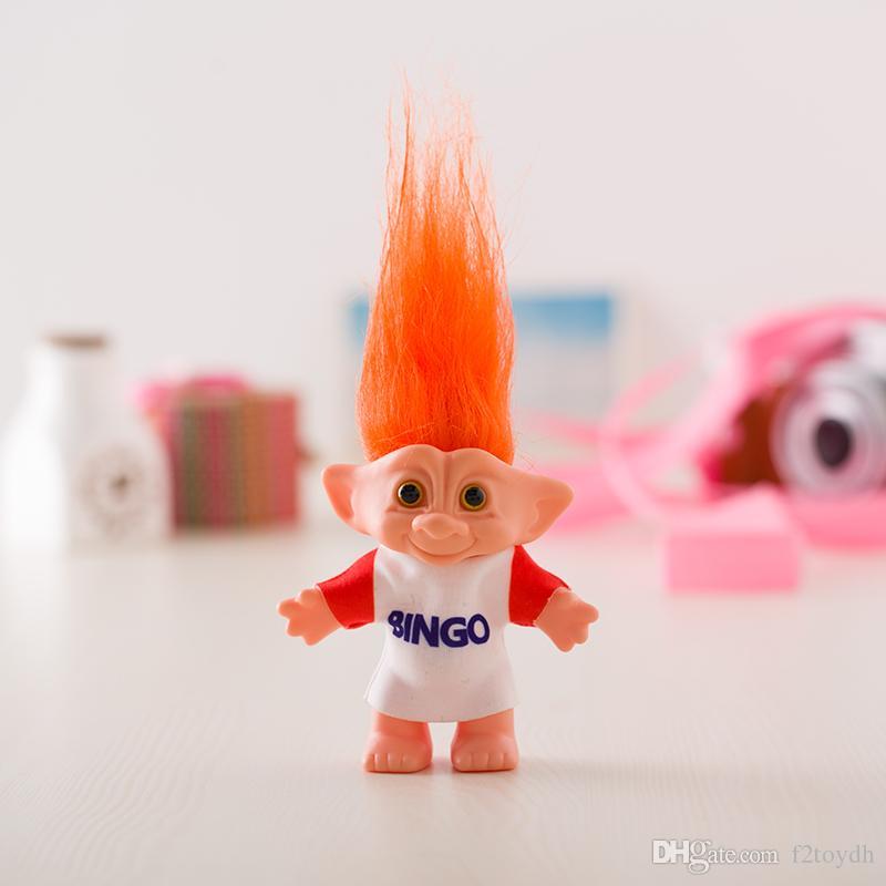 10 см Тролль кукла с Бинго одежда лепреконы дам игрушки Русс Тролль для детей подарок на День Рождения оптом