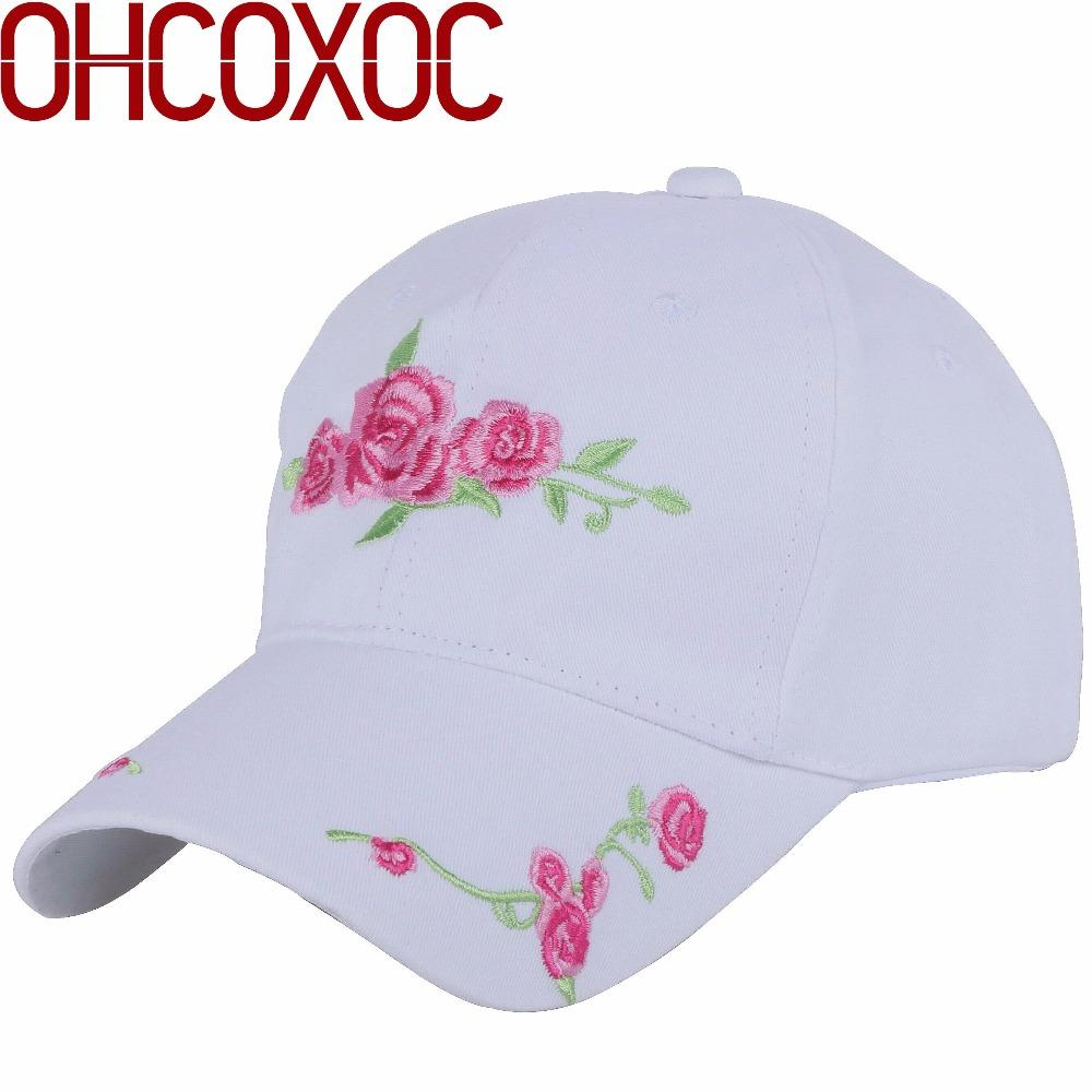 a0828d956 women new hat casual cap baseball caps embroidery Good quality floral  decorated pattern white black female casquette gorras