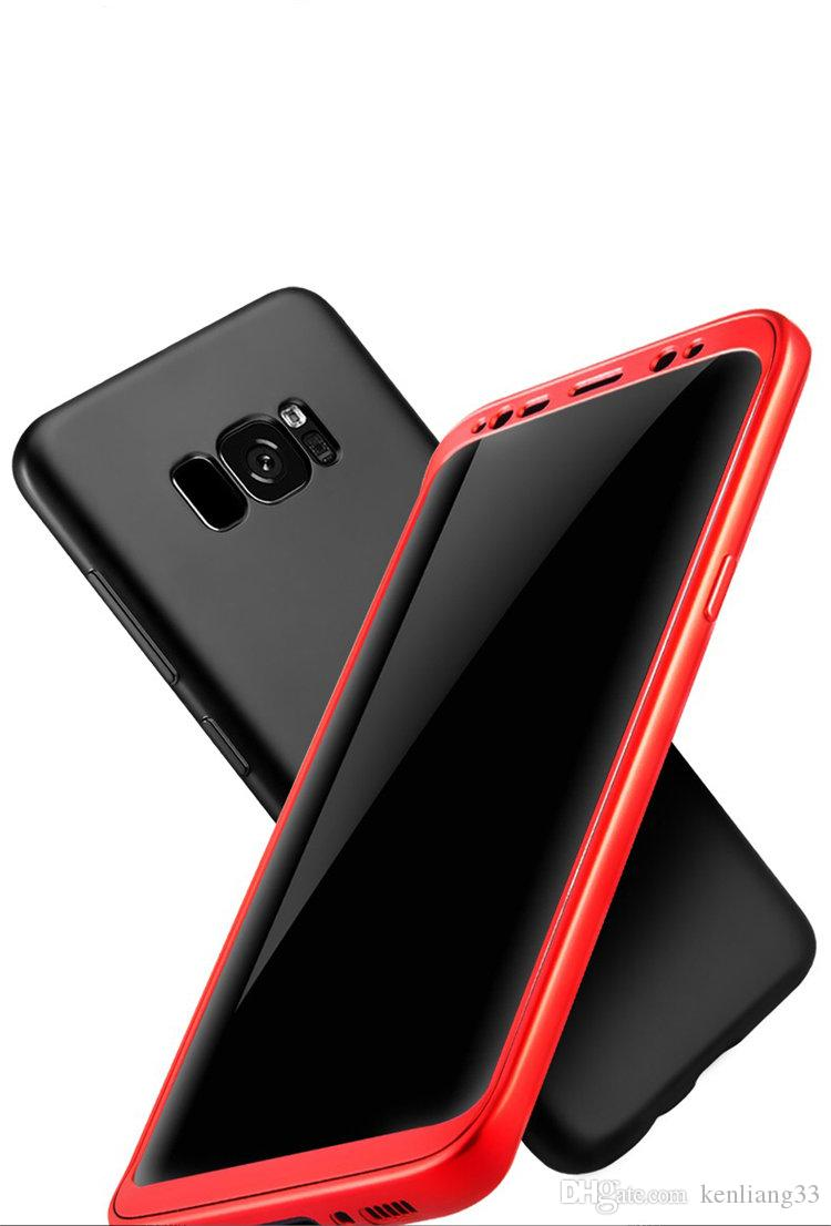 Best Cell Mobile Cases and Covers 360 Degree Full Protection Soft TPU Back Cover Matte PC case for Samsung S8 Plus S7 Edge
