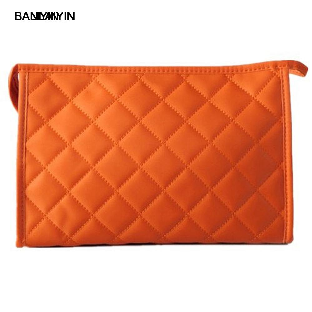 Women Zipper Closure Small Cosmetic Case Makeup Bag Orange Size M Train  Case Discount Makeup From Pokkie 476db2e62c35e