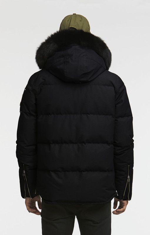 Auf Fuchspelzkragen Von Jacke Daunenjacke Schwarzem Sportsneakers225 14 Winter Kalte 3q Mit Großhandel Weißem Oder 34 Herren Kapuze Für Tl1c3KJF