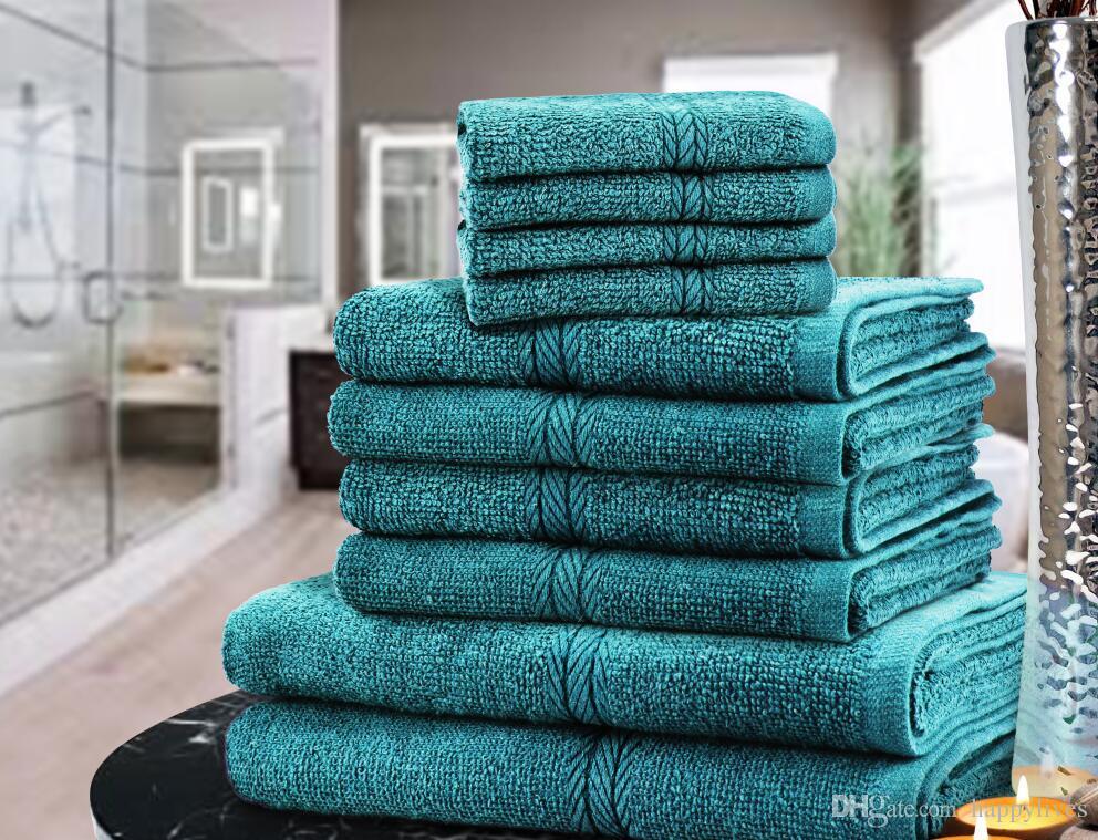 LUXURY TOWEL BALE SET 100% COTTON FACE HAND BATH BATHROOM TOWELS 9