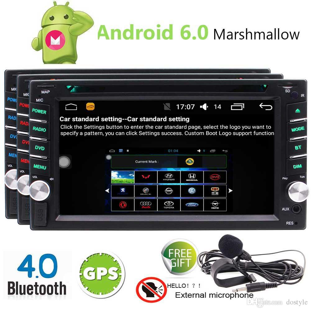 EinCar Android 6 0 Marshmallow Car Stereo Double 2 Din 6 2 Capacitive Touch  Screen Car DVD Player In Dash GPS Navigation Bluetooth