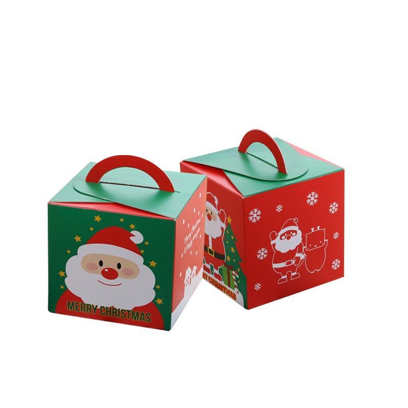 Christmas Gift Boxes Wholesale.20pcs Pack Kawaii Christmas Apple Boxes Portable Gift Box Diy Paper Boxes Apple Cake Candy Party Christmas Gift Boxes Wholesale