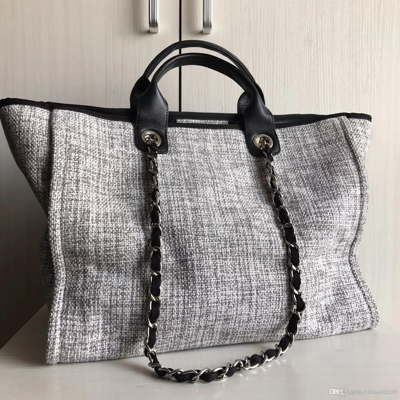 New Fashion Hot Sale Classic Embroidery Leisure Summer Beach Shopping Bag  Canvas Big Tote Bags Handbags Women Top Quality Classic Style Designer  Handbags ... e791f78536c01