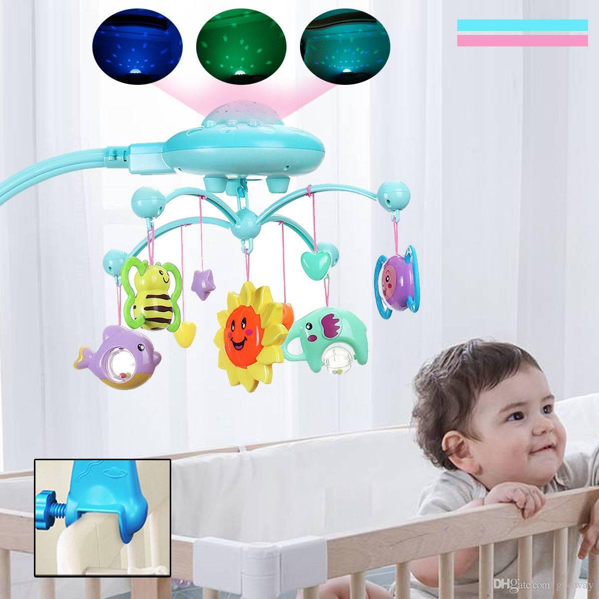 Grosshandel Babybett Mobile Musical Kinderbett Krippe Rotary Spieluhr