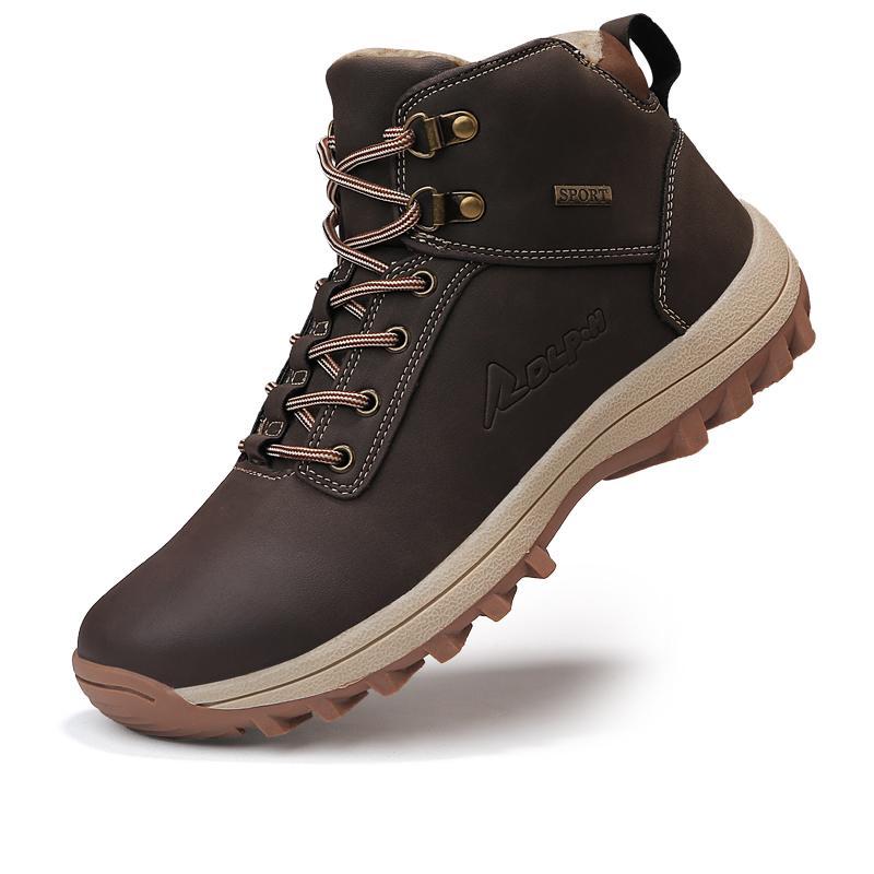 3a1fbb3f4ac Acheter Bottes D hiver Pour Hommes Bottes Montantes Décontractées Sneakers  Neige Chaussures À La Cheville En Peluche Chaud Chaussures Décontractées  Mode ...