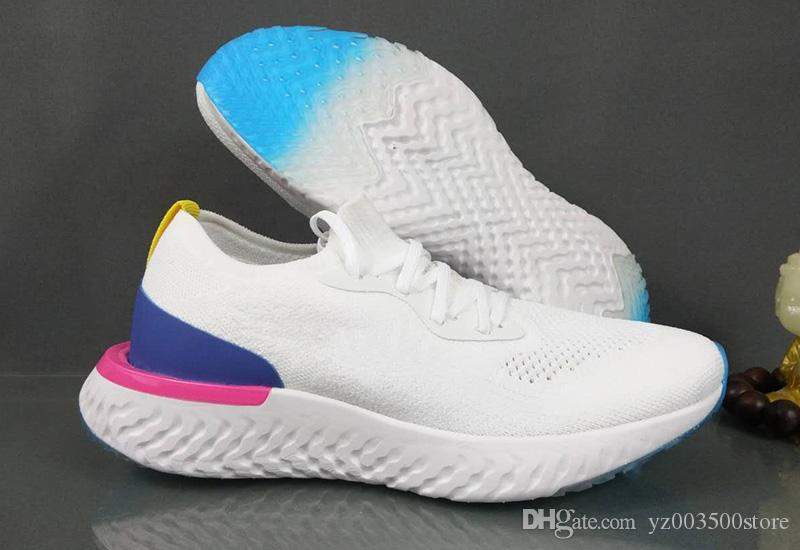 online store 977b0 6c0ac Acheter Nike Epic React Flyknit 2018 Epic React Instant Go Fly Souffle  Confortable Sport Taille 5 11 Mens Outdoor Chaussures À Vendre Femmes  Athletic ...