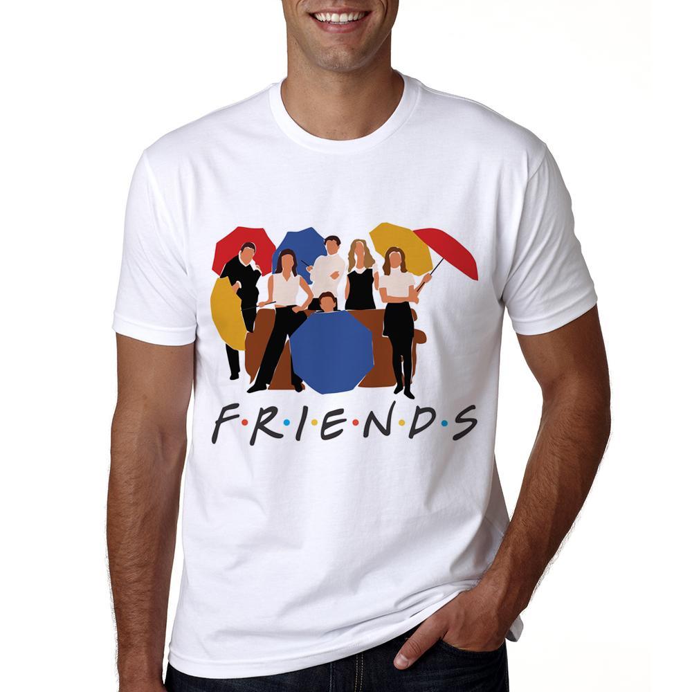 c365429fb Newest Friends T Shirt Men Casual Short Sleeve Friends Tv Show T Shirt  Summer Best Tshirt Tv For Men Cotton T Shirts Fitted Shirts From Vincant,  ...