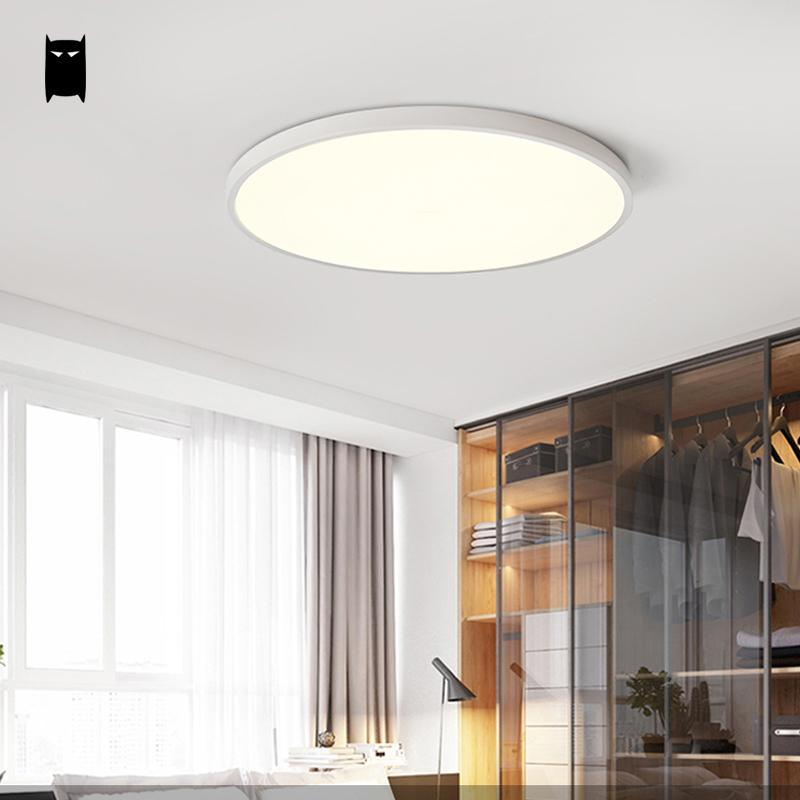 2018 Round Thin Iron Acrylic Geometry Ceiling Light Fixture Surface ...