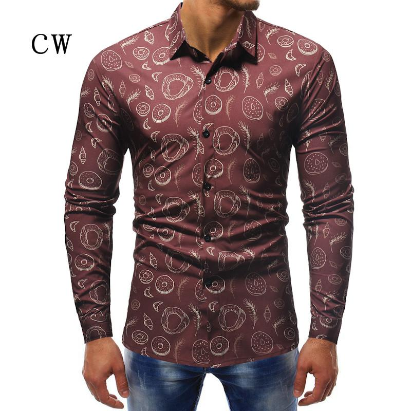 382962a6d36c 2018 New Fashion Casual Men Shirt Long Sleeve Europe Style Slim Fit Shirt  Men High Quality Cotton Floral Shirts Mens Clothes UK 2019 From Jujubery,  ...