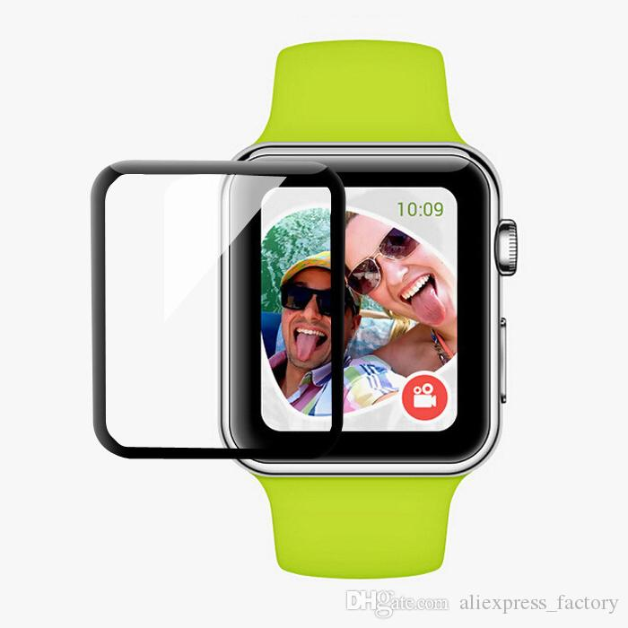 3D Curved Tempered Glass 9H Explosion Full Cover Protective Guard Film Screen Protector For Apple Watch Series 4 3 2 1 40mm 44mm 38mm 42mm