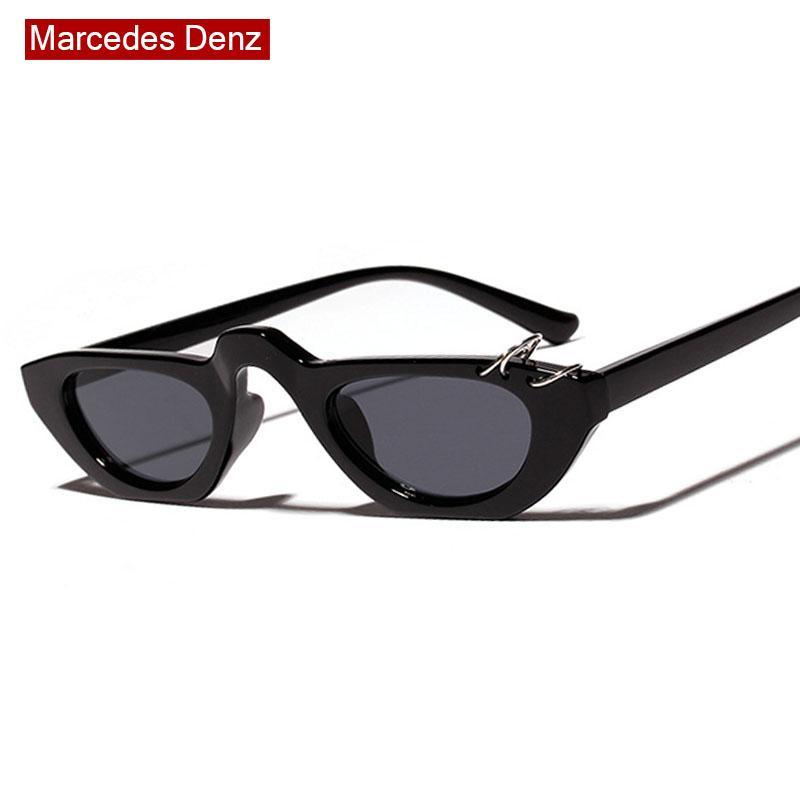 Compre Sexy Pequeno Olho De Gato Óculos De Sol Para As Mulheres 2019 Oval  Óculos De Sol Do Vintage Retro Quadrado Óculos Roxo Preto Óculos De Sol  Eyewear ... 9f168402cf