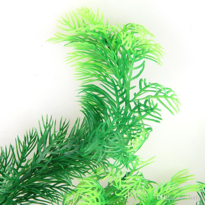 "11.8"" Green Artificial Plastic Plant Grass FishTank Aquarium artificial grass aquarium decor decoration"