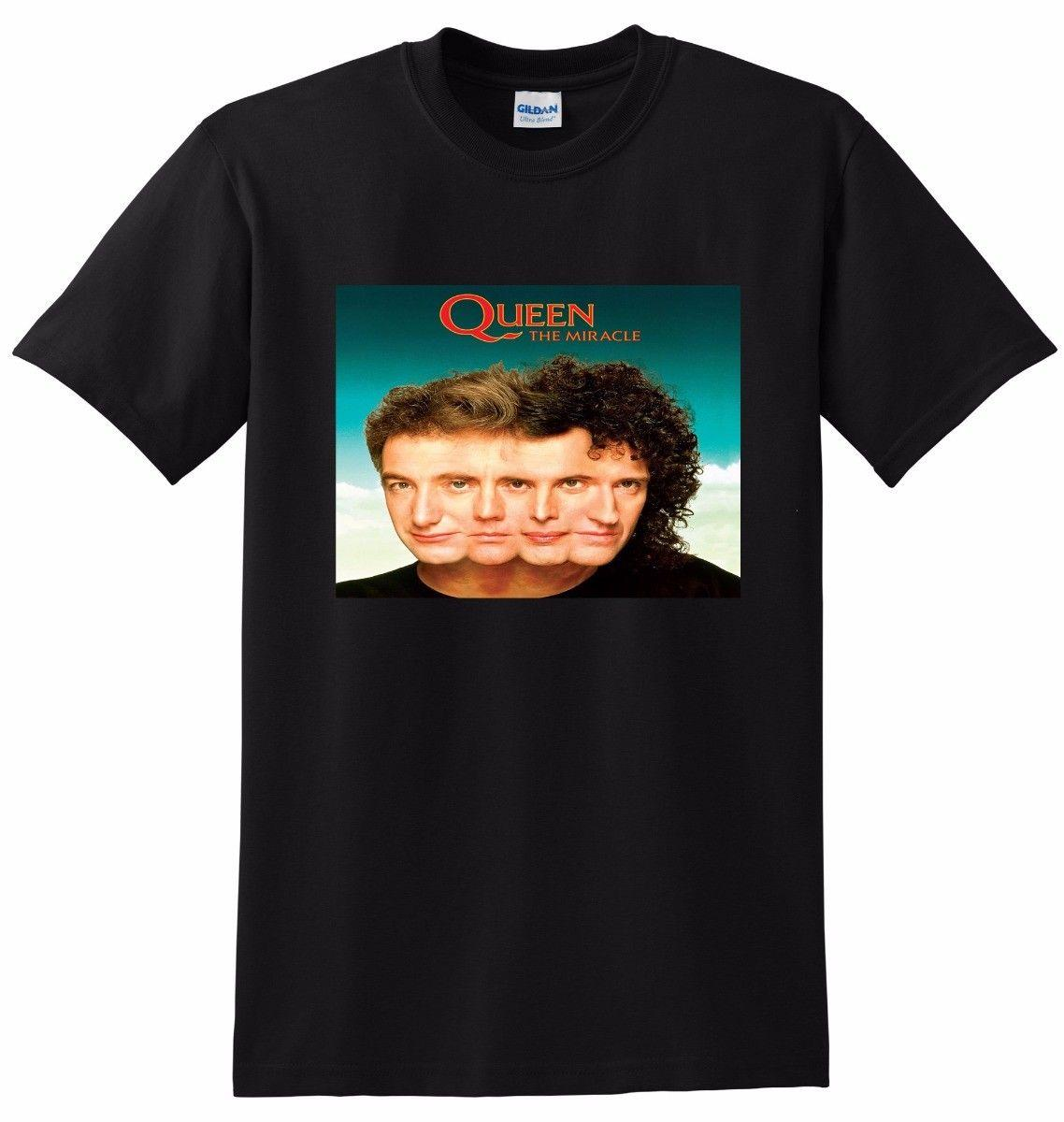 914be9c09736a QUEEN T SHIRT The Miracle SMALL MEDIUM LARGE Or XL Mens 2018 Fashion Brand T  Shirt O Neck 100%cotton T Shirt Tops Tee Custom Cool T Shirts T Shirts  Online ...