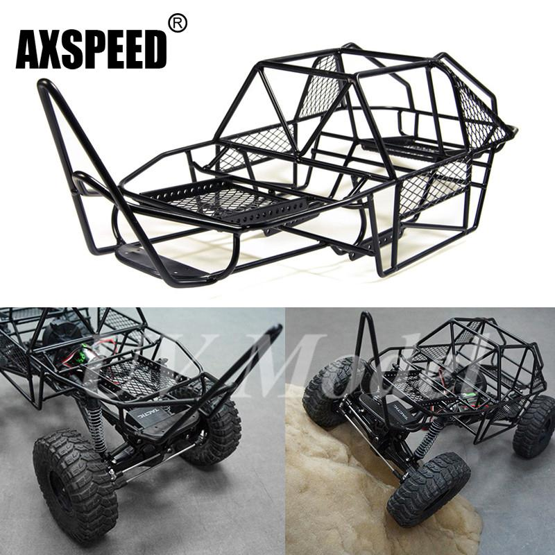 1/10 Scale Rc Rock Car Xtra Speed V Steel Roll Cage Frame Body Black ...