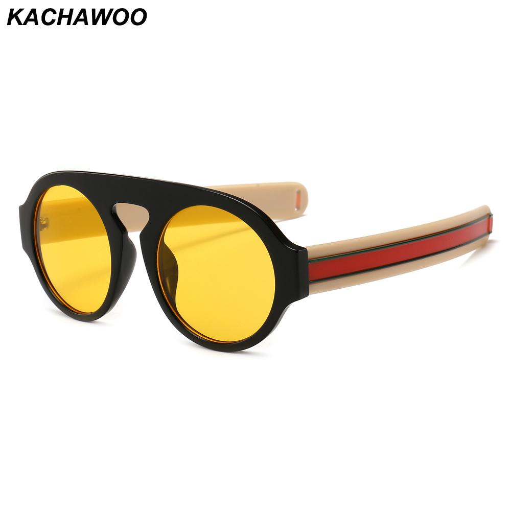 0a3dba7651 Kachawoo Wholesale Round Sunglasses Men Modern Accessories Thick Frame  Yellow Black Retro Sun Glasses Women Fashion 2019 Sunglasses Shop Bolle  Sunglasses ...