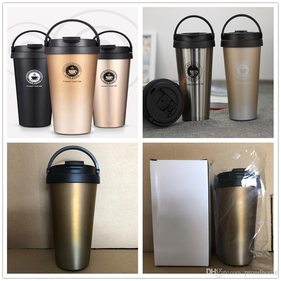 39f8c1ef486 Thermos Mug Insulated Vacuum Cup 304 Stainless Steel 500ml 17oz Travel  Truck Cab Bottle Coffee Tumbler FEDEX Thermos Insulated Mug Thermos  Stainless Steel ...
