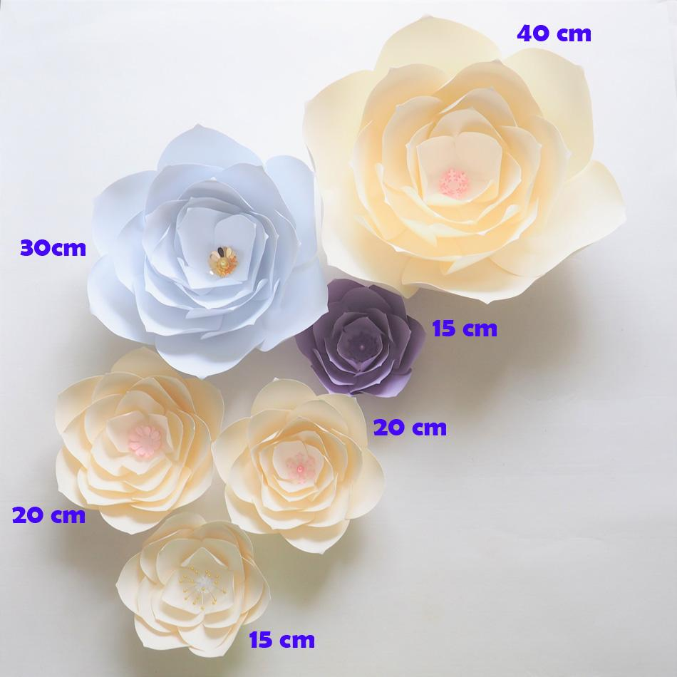Diy Giant Paper Flowers Backdrop Artificial Handmade Paper Flower 6pcs Wedding Party Deco Home Decoration Video Tutorial