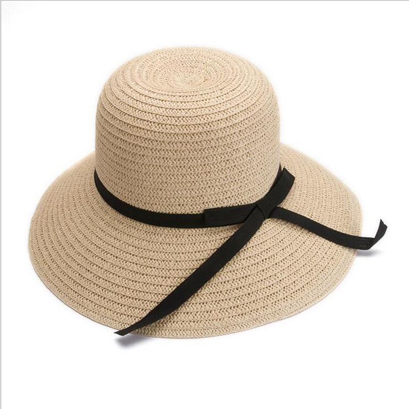 1fed4b13905 BINGYUANHAOXUAN Women Summer Beach Sun Straw Hat Stylish Floppy ...