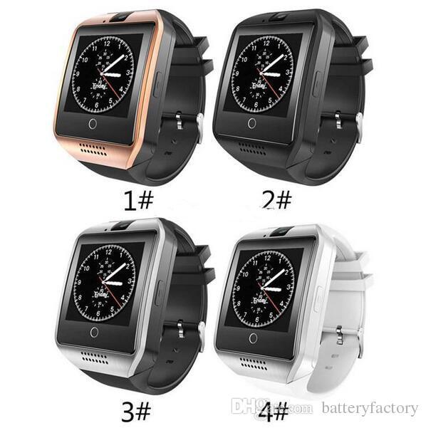 Q18 Smart Watch Bluetooth Smart-Uhren für Android-Handys unterstützen den Anrufbeantworter der SIM-Karten-Kamera und richten verschiedene Sprachen mit Box ein