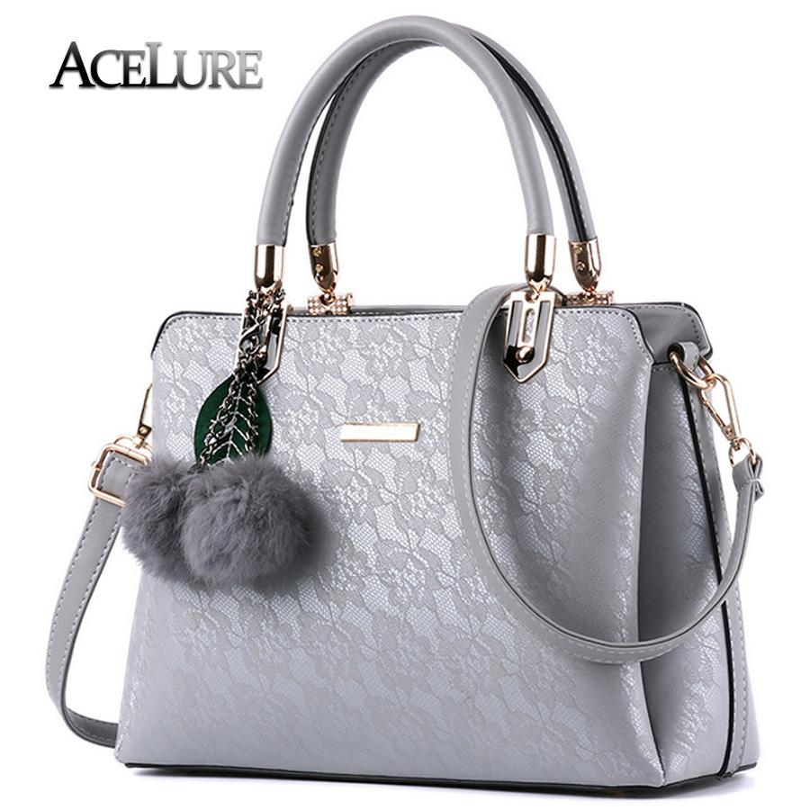 f42bb93c96ed 2019 ACELURE Women Fur Handbags 2019 High Quality Printing Women Bags Women  PU Leather Shoulder Messenger Bags Sweet Tote Bag Bolsa Totes Overnight Bags  ...