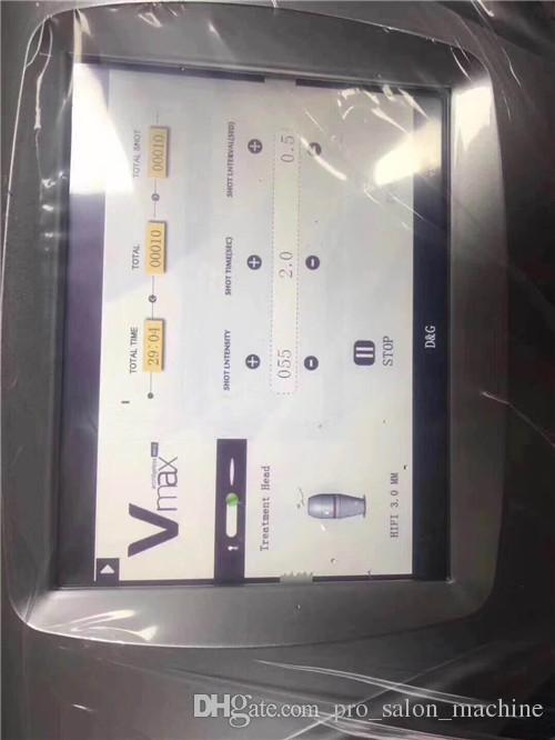 Yeni Vmax Yüksek Yoğunluklu Odaklı Ultrason HIFU Yüz Germe Vücut Şekillendirme Makinesi