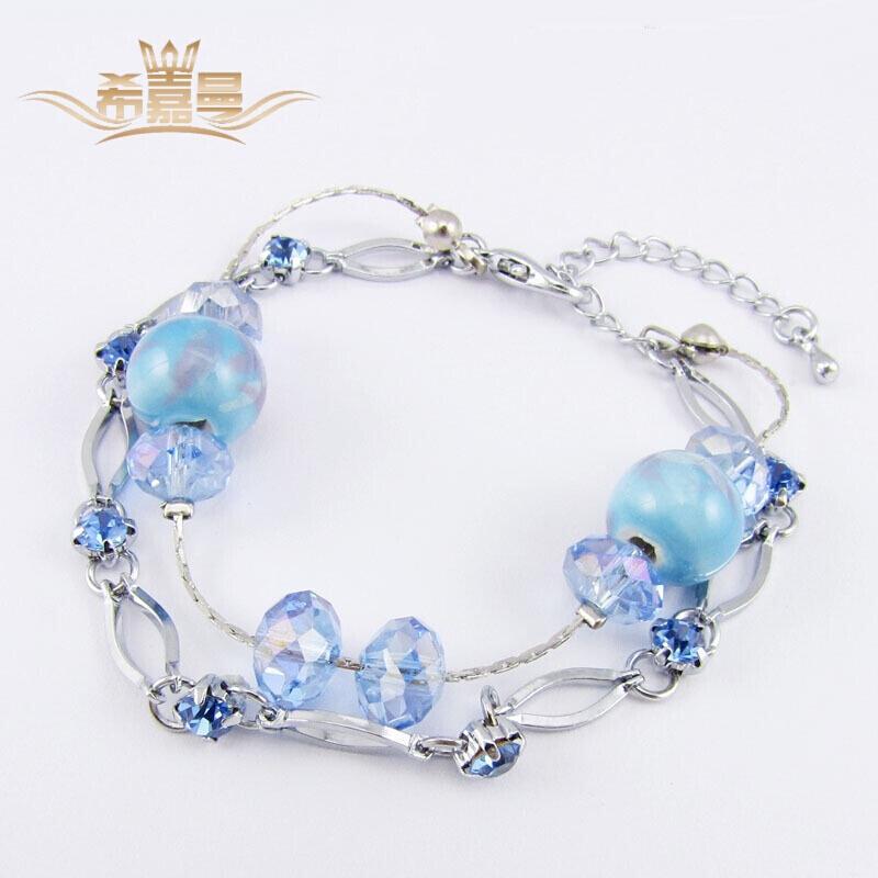 5e9dc00d6e1f Compre Hitchman Singamen Pulsera Estilo Nacional De Porcelana Azul Y Blanca  Mano Joyería Moda Moda Moda Retro Hecho A Mano A  204.18 Del Hatsock